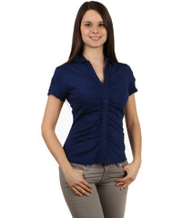TopMode Krásná košile na knoflíky s krátkým rukávem tmavě modrá