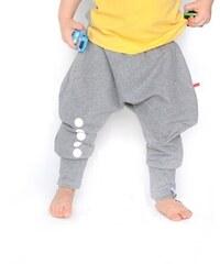 Lamama Dětské bavlněné kalhoty s reflexním potiskem - šedé