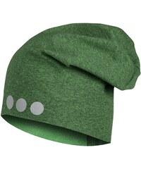 eb1a8cc6a5d Lamama Dětská čepice s reflexním potiskem - žíhaná zelená