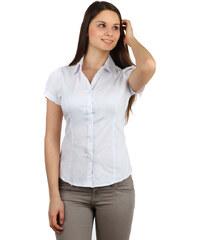 TopMode Klasická společenská košile na knoflíky bílá