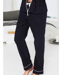 CHANGE Lingerie Pyžamové kalhoty CHANGE Mix&Match tmavě modré s puntíky - XL