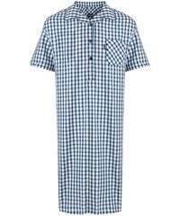 Pánská noční košile JOCKEY MAX s krátkým rukávem kostkovaná - 6XL