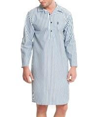 Pánská noční košile JOCKEY MAX s dlouhým rukávem pruhovaná - 6XL