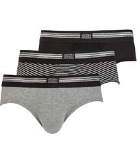 Pánské slipy JOCKEY 3-pack šedý - M