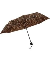 Firetrap Blackseal Leopard Print Womens Umbrella, brown leopard