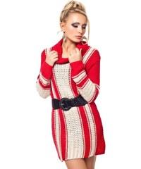 JapanStyle Pletený svetr s opaskem - S/M