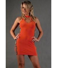 PrettyWomen Mini šaty s průstřihy a korálky - S