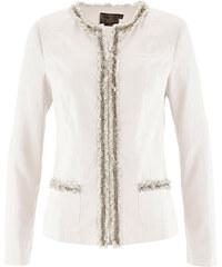 bpc selection premium Premium Blazer mit Leinen langarm in weiß für Damen von bonprix