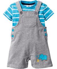 bpc bonprix collection T-shirt bébé + salopette (Ens. 2 pces.) gris manches courtes enfant - bonprix
