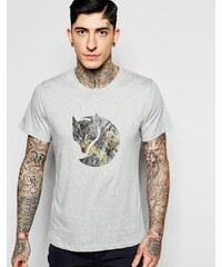 Fjallraven - T-shirt avec logo façon roche - Gris