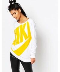 Nike - Rally - Sweat boyfriend ras du cou à grand logo - Blanc