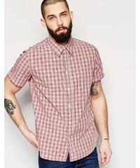 PS by Paul Smith Paul Smith Jeans - Chemise manches courtes classique à carreaux - Rose