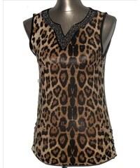 LM moda Top, tílko elegantní leopardí hnědé