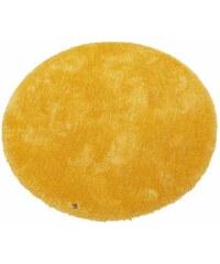 Tom Tailor Hochflor-Teppich rund Soft Höhe 30 mm handgearbeitet gelb 9 (Ø 140 cm)