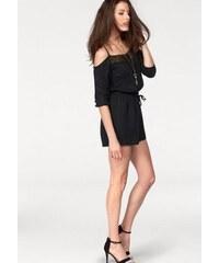 Aniston Damen Overall kurze Shorts Ausschnitt mit Spitze schwarz 36,38,40,42,44