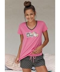 NICI Shorty mit Pünktchenshorts & T-Shirt mit Schäfchenprint rosa 32/34,36/38,40/42,44/46