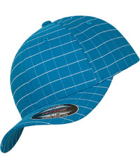 Flexfit Square Check Cap turquoise/white