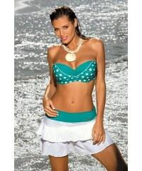 Plážová sukně Marko Mila M-334 Bianco-Viridian