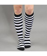 Urban Classics Ladies Striped Socks černé / bílé