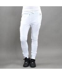 Urban Classics Ladies Melange Biker Sweatpants bílé