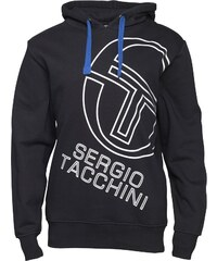 Sergio Tacchini Herren Stackhouse Logo Kapuzentop Schwarz