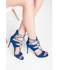 VICES Elegantní modré sandály s vázáním