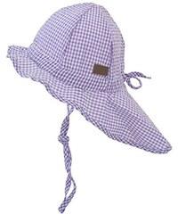 Melton Unisex Baby Mütze Sonnenhut mit Nackenschutz UV 30+, Kariert