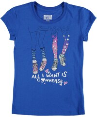 Triko Converse Short Sleeve TShirt dětské Girls Vision Blue