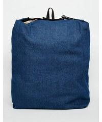 ASOS - Sac à dos souple en jean - Indigo - Bleu