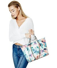 Guess kabelka Nikki Floral-Print Chain Tote