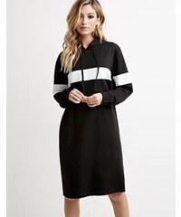 001 Dámské mikinové šaty černé úzké