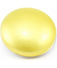 JewelsHall Knoflík Cvak - kabošon - žlutý - 1,8 cm