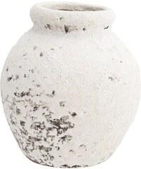 Madam Stoltz Kameninová váza Terracotta White