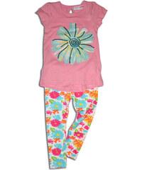 Minoti Dívčí tričko s legínami Garden - růžové