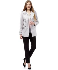 DASH Exkluzivní světle šedý kabát
