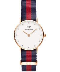Dámské modro-rudé hodinky Daniel Wellington 0905DW Classy Oxford