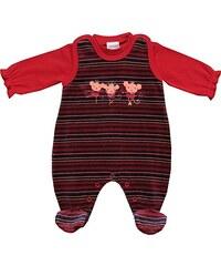 Schnizler Baby - Mädchen Strampler Set Nicki 2 Tlg. Tanzmäuse Glitzerstreifen mit Langarmshirt