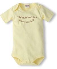 Schnizler Unisex Baby Body Kurzarm mit Spruch: Liebhaberstück Unverkäuflich