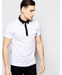 Antony Morato - Schmales Poloshirt mit Kontrastkragen - Weiß