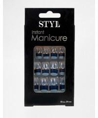 StyLondon - Ongles à poser 3D - Drycott Avenue - Bleu