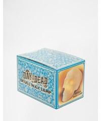 Mr & Mrs Jones - Wachs-Lampe mit Totenkopfdesign - Mehrfarbig