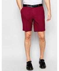 ASOS - Bermuda skinny élégant - Carreaux rouges - Rouge