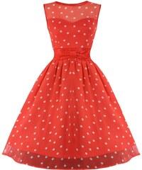 Dámské šaty Lindy Bop Candy korálové