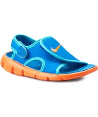 Sandály NIKE - Sunray Adjust 4 (Gs/Ps) 386518 011 Photo Blue/Gamma Blue/Ttl Orng