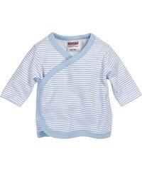 Schnizler Unisex Baby Hemd Wickelshirt, Flügelhemd, Erstlingshemd Langarm Ringel, Oeko Tex Standard 100