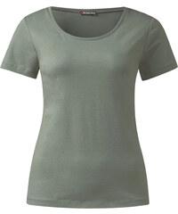 Street One - T-shirt à encolure arrondie biologique Clia - granite sage