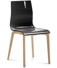 DOMITALIA Srl Gel-l - Jídelní židle (černá lesk)