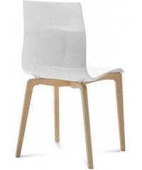 DOMITALIA Srl Gel-L - Jídelní židle (bílá ashwood, bílá)