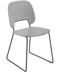 DOMITALIA Srl Traffic-t - Jídelní židle (lak černý mat, plast sv. šedá)