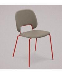 DOMITALIA Srl Traffic - Jídelní židle (lak červený matný, plast pískový)